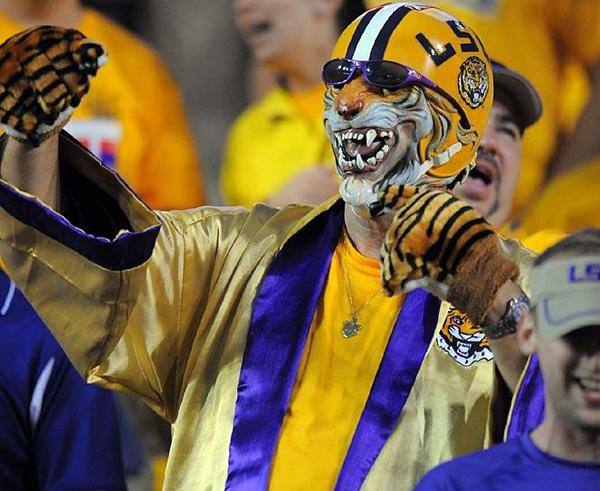 LSU Tigers Crazy Fan