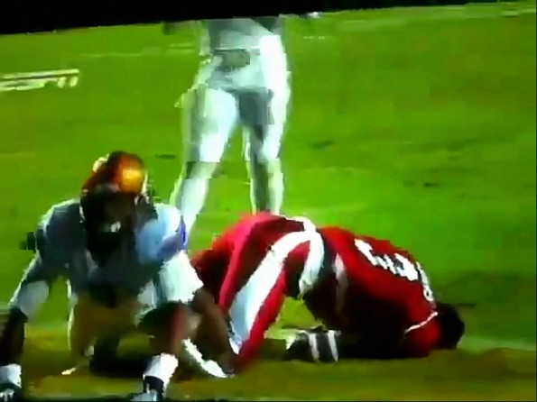 Chad Jones Wrecks Joe Adams in LSU-Arkansas Game
