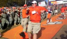 Clemson Trainer Face Plants During Entrance