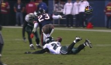 Devin Hester Has A Wardrobe Malfunction (Video)