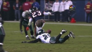 Devin Hester Has A Wardrobe Malfunction