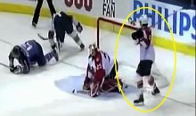 Keith Ballard Viciously Slashes Tomas Vokoun Over The Head (Video)