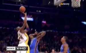 Kobe Bryant Best Shot ever in his NBA Career Impossible Shot behind the backboard