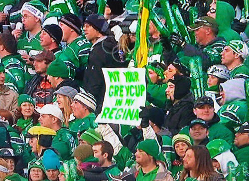 Put Your Grey Cup In My Regina
