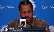 Allen Iverson Cries During Press Conference With 76ers (Video)