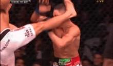 BJ Penn's Vicious Leg Kick Cuts Diego Sanchez (GIF)