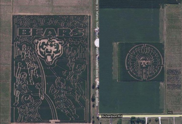 Chicago Bears Field and Illini Crop Circles