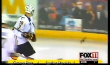 Hockey Player Kills Bat During Game (Video)