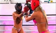 Hot Brazilian Bikini Roller Boxing..No Joke! (Video)