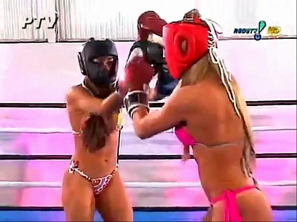 Hot Brazilian Bikini Roller Boxing