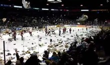 London Knights Fans Make It Rain Teddy Bears for Charity