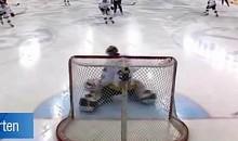 Norwegian Goalie Makes Amazing Goal-Line Save (Video)