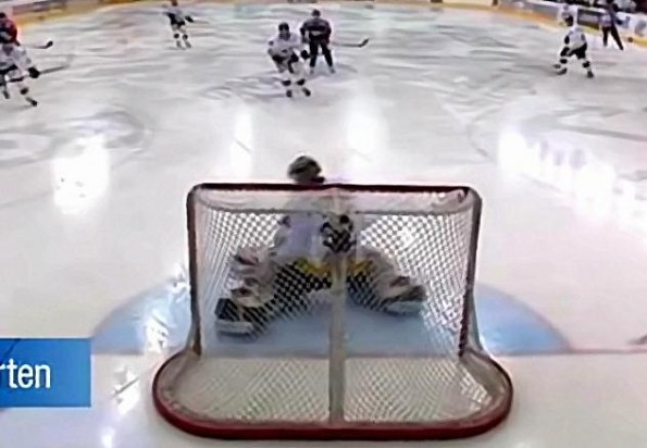 Norwegian Goalie Makes Amazing Goal-Line Save