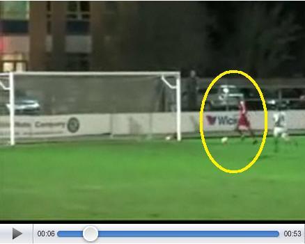 Soccer Player Misses Wide Open Net