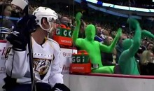 The Green Men Mock The Nashville Predators (Video)