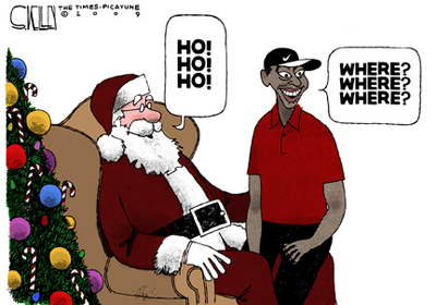 Tiger Woods Saga now a Cartoon at The New York Times