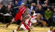Trevor Ariza Throws A Right Haymaker At DeMar DeRozen