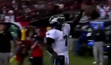 Vick Scores TD Against Former Team, Then Gets Rejected By The Net