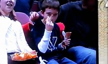 Young Villanova Fan Gives America The Finger (Video)