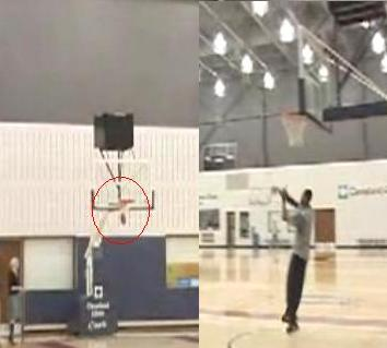LeBron James Hits Full Court Shot With a Football (Video)