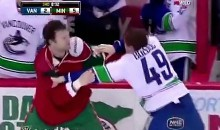 Bigfoot Beats Down Bolduc During Canucks-Wild Game (Video)