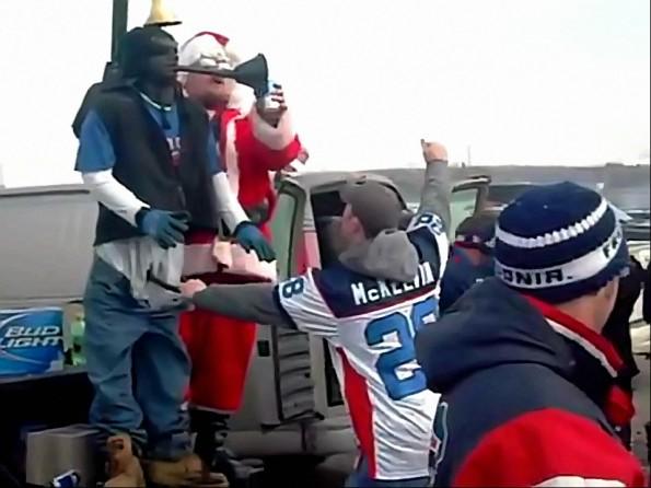 Buffalo Bills Fans Create Weird Beer Bong