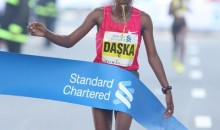 Dubai Marathon Winner Pukes as Crosses Finish Line (picture)