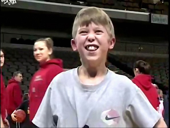 Giddiest Kid Ever Really Loves Basketball