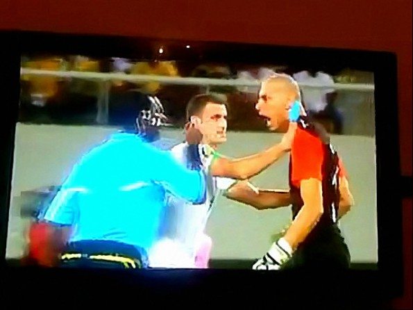 Goalkeeper Head Butts Referee During African Cup