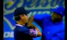 Jose Offerman Offers Umpire a Punch (Video)