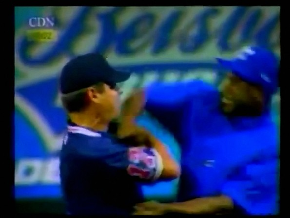 Jose Offerman Offers Umpire a Punch