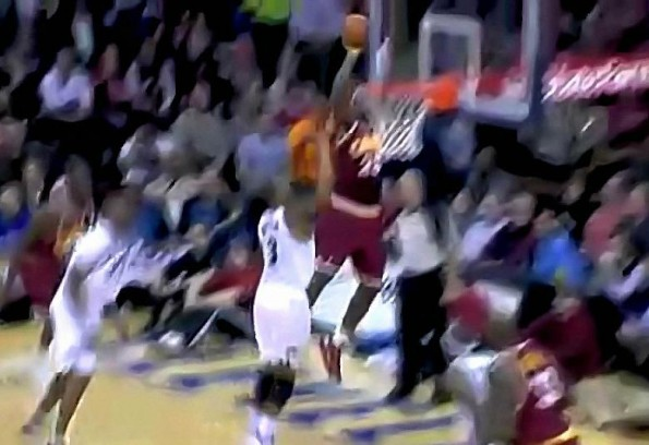 LeBron James Hits Crazy Shot From Behind Backboard