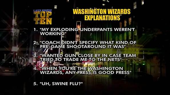 Letterman's Top Ten Wizards Gun Explanations