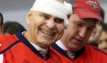 Old Man Gets Struck with Hockey Puck at Capitals Game (Pics)