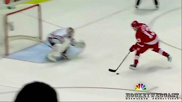 Pavel Datsyuk Pulls A Linus Omark During Shootouts