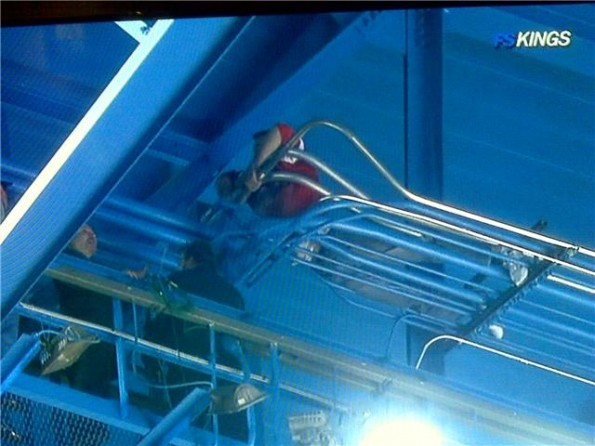 Red Wings Fans Climb The Rafters Looking For A Better View