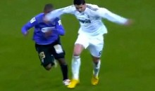 Ronaldo Receives Red Card for Elbow to Defender's Face