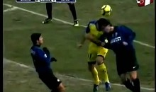 Soccer Player Fractures Skull in Horrific Collision (Video)