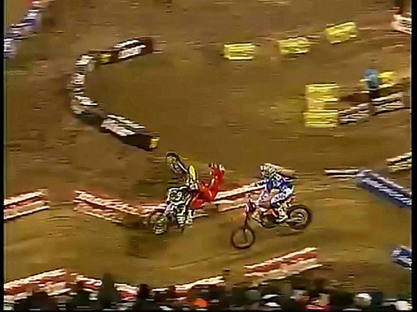 Some Bad Luck Results In Nasty Supercross Crash