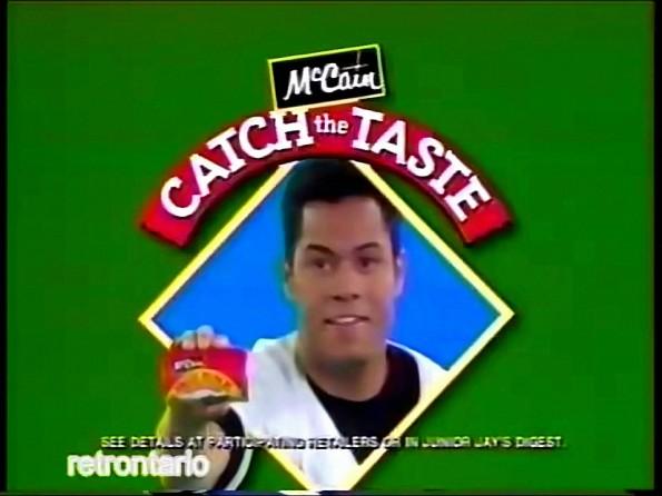 Vintage Roberto Alomar McCain Catch The Taste!