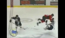 Oh! The OHL! Zack Kassian Huge Hit on Matt Kennedy (Video)