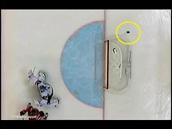 Canada's Shea Weber Blasts A Puck Through The Net