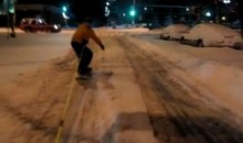 Even The Cops Enjoy Extreme Street Snowboarding (Video)