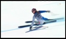 Italian Skier Wipes Out and Screams in Pain (Video)