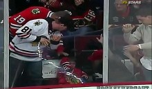 Kid Takes Pane Of Glass To The Head At Blackhawks Game