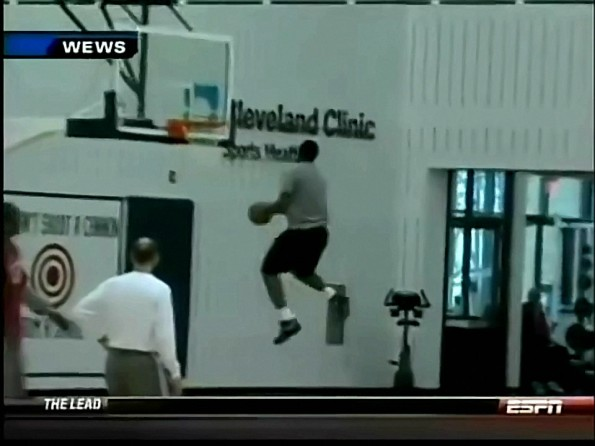 LeBron James Teases Us With A Crazy Practice Dunk