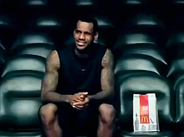 LeBron James and Dwight Howard McDonalds Commercial