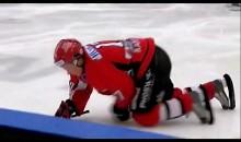 Swedish Hockey Player Leaves Skate Guards On During Game