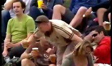 This Cricket Fan Had One Too Many (Video)