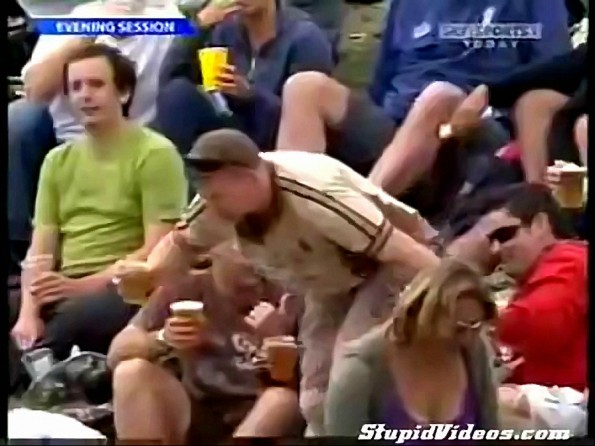 This Cricket Fan Had One Too Many